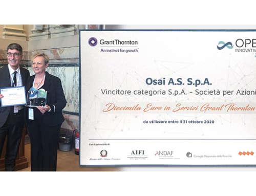 Auszeichnung OPEN INNOVATIVE PMI 2019 – neuer Meilenstein für OSAI A.S.